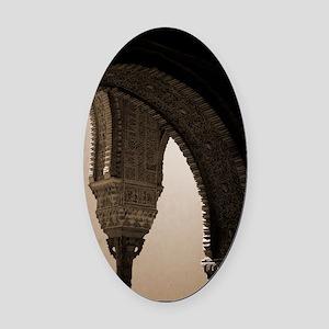 alhambra Oval Car Magnet
