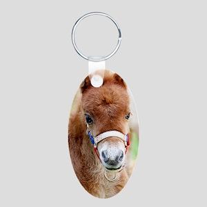 Orphaned Foal - Joy Aluminum Oval Keychain