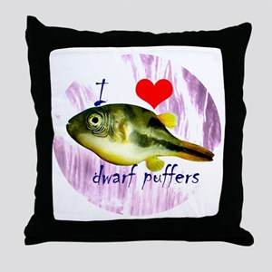 Dwarf puffer Throw Pillow