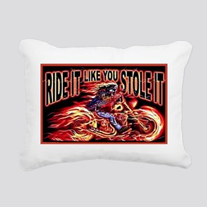 ride it like you stole i Rectangular Canvas Pillow