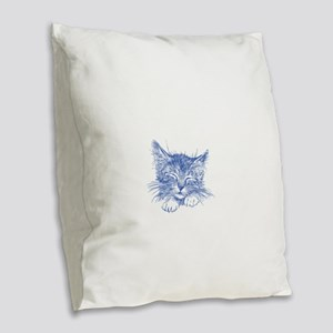 Cats Are My Favorite People Burlap Throw Pillow