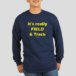 It's Really FIELD & Track Blk Long Sleeve Dark T-S