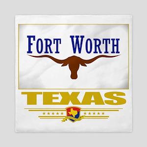 Fort Worth (Flag 10) Queen Duvet
