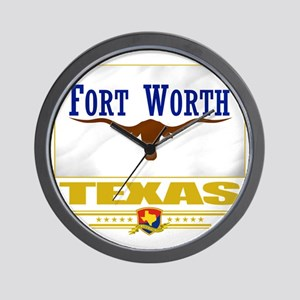 Fort Worth (Flag 10) Wall Clock