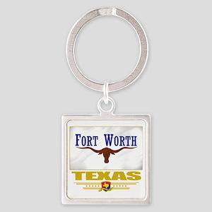 Fort Worth (Flag 10) Square Keychain