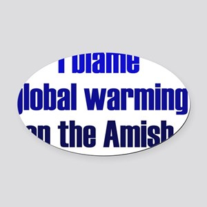 amish_rect2 Oval Car Magnet