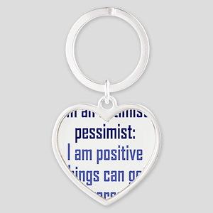 optimistic-pessimist2 Heart Keychain