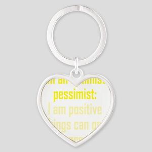 optimistic-pessimist3 Heart Keychain
