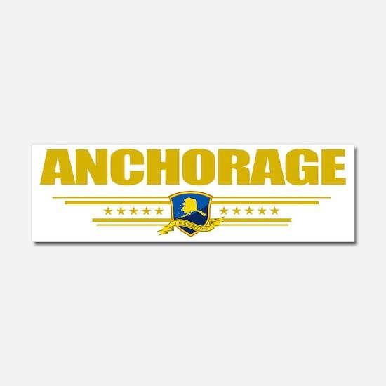 Anchorage (Flag 10) pocket Car Magnet 10 x 3