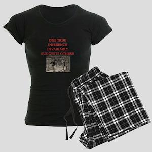 sherlock holmes quote Women's Dark Pajamas