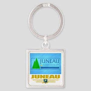 Juneau (Flag 10) Square Keychain