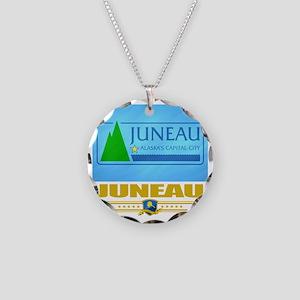 Juneau (Flag 10) Necklace Circle Charm