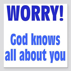 "worry1 Square Car Magnet 3"" x 3"""