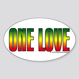 One Love Oval Sticker