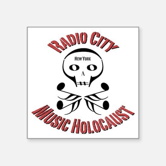"""radio-city-2a Square Sticker 3"""" x 3"""""""