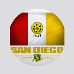 San Diego (Flag 10) Round Ornament