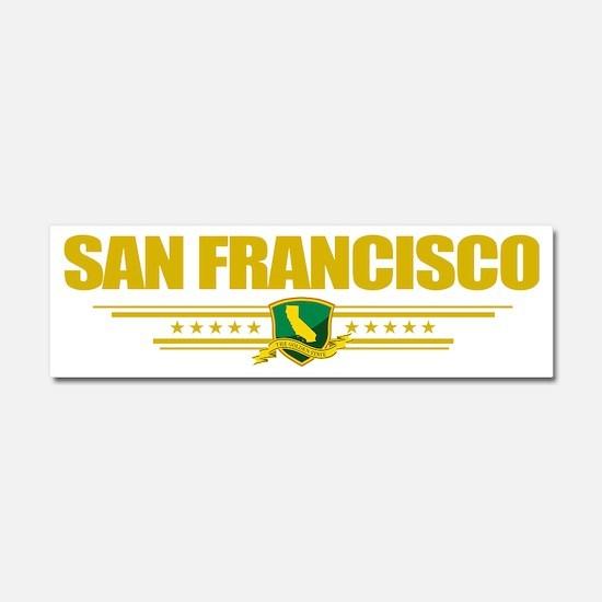 San Francisco (Flag 10) pocket Car Magnet 10 x 3