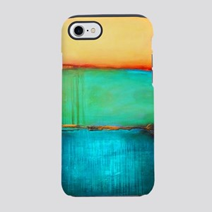 ROTHKO YELLOW GREEN TURQUOISE iPhone 7 Tough Case