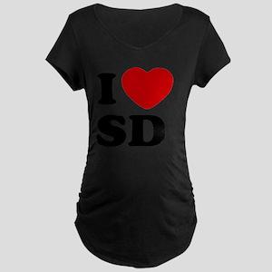 I Love SD Large Maternity Dark T-Shirt