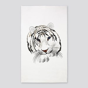 White Bengal Tiger 3'x5' Area Rug