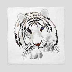 White Bengal Tiger Queen Duvet