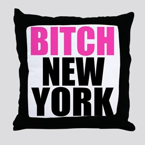 BNYLOGOBLACK Throw Pillow