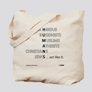 actlikehumanst Tote Bag