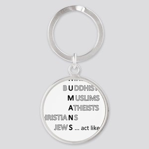 actlikehumanst Round Keychain