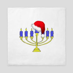 Christmas Menorah Queen Duvet