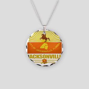Jacksonville (Flag 10) Necklace Circle Charm