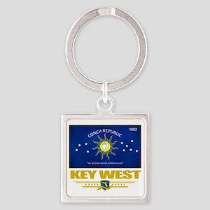 Key West (Flag 10) Square Keychain