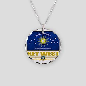 Key West (Flag 10) Necklace Circle Charm