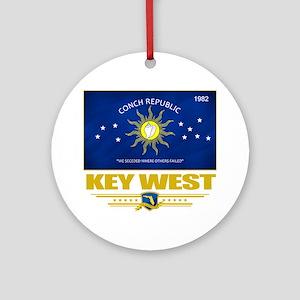 Key West (Flag 10) Round Ornament