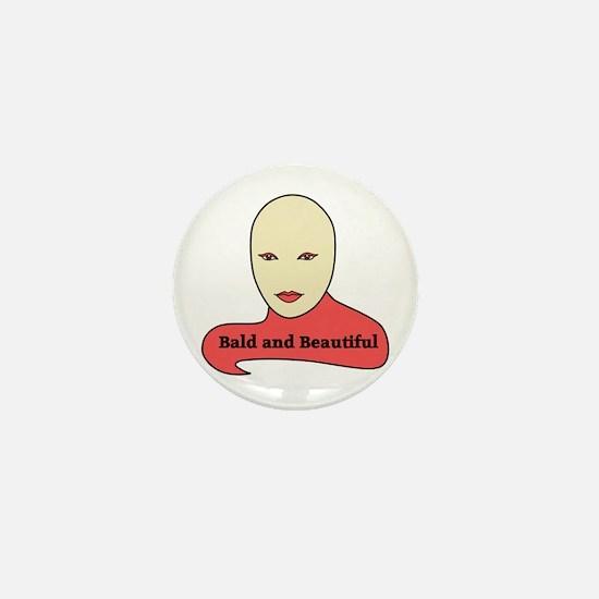 Bald and Beautiful v1.1 Mini Button