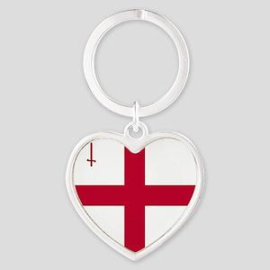 KB English Flag - City of London Fl Heart Keychain