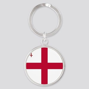 KB English Flag - City of London Fl Round Keychain