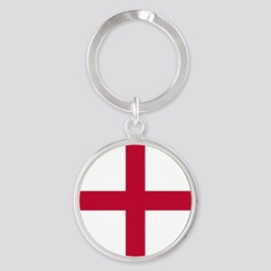 KB English Flag - St. Georges Cross Round Keychain