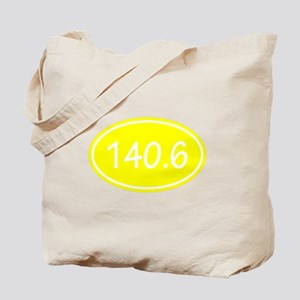 Yellow 140.6 Oval Tote Bag