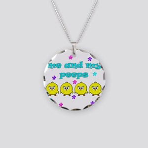 ME AND MY PEEPS - L TEAL Necklace Circle Charm