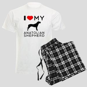 I love My Wire Fox Terrier Men's Light Pajamas