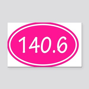 Pink 140.6 Oval Rectangle Car Magnet