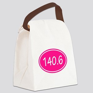 Pink 140.6 Oval Canvas Lunch Bag