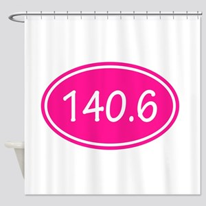 Pink 140.6 Oval Shower Curtain