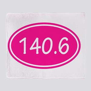 Pink 140.6 Oval Throw Blanket