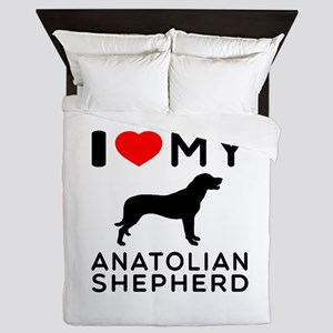 I love My Wire Fox Terrier Queen Duvet