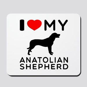 I love My Wire Fox Terrier Mousepad