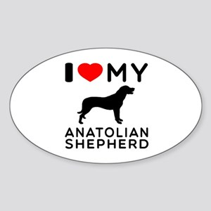 I love My Wire Fox Terrier Sticker (Oval)