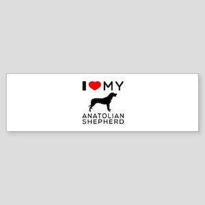 I love My Wire Fox Terrier Sticker (Bumper)
