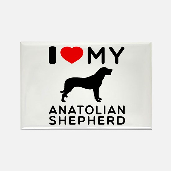I love My Wire Fox Terrier Rectangle Magnet (100 p