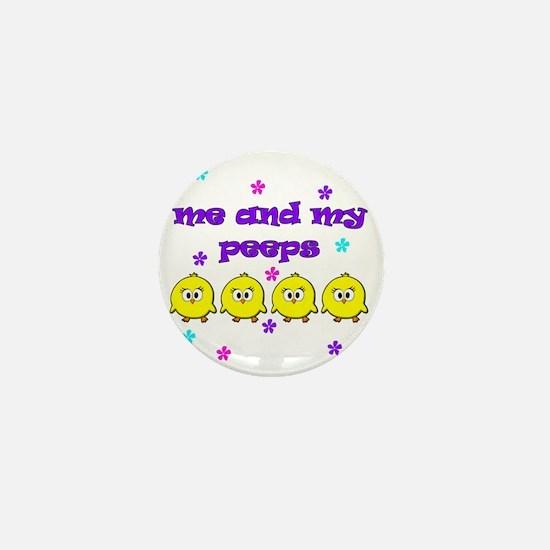 ME AND MY PEEPS - L PURPLE Mini Button